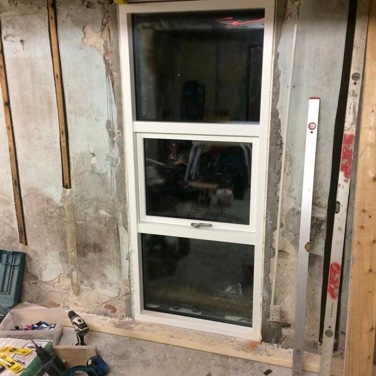 Isætning af nye vinduer